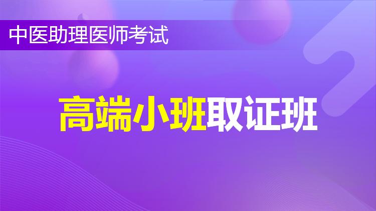 2021中医助理高端小班取证班