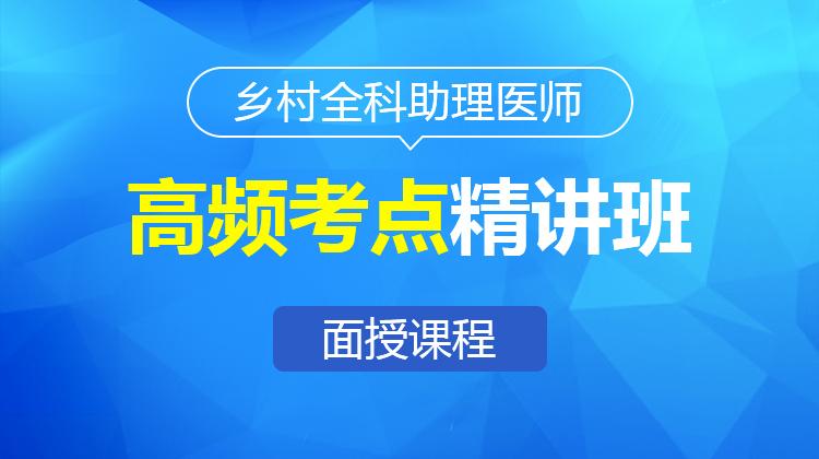 2021乡村全科执业助理医师高频考点精讲班A(面授)